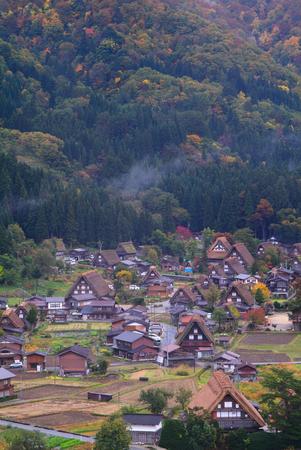 ogimachi: Shirakawago Ogi-machi village Stock Photo