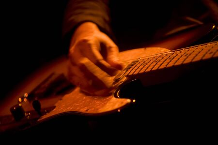 instrumentalist: Electric guitar Stock Photo