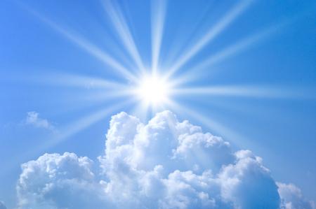 ultraviolet: Blue sky and Sun Stock Photo