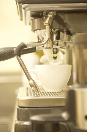 espresso machine: Espresso machine Stock Photo