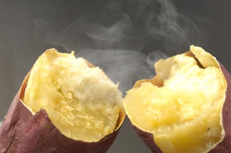 Baked sweet potato Фото со стока