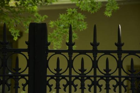iron fence: Iron fence Stock Photo