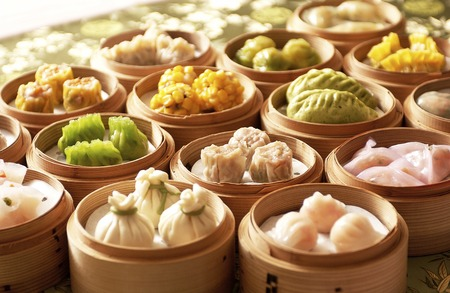 chinese cuisine: Dim sum Stock Photo