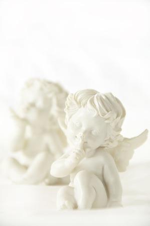 天使の置物 写真素材