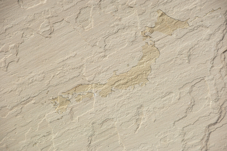 sandstone: Japan map of sandstone