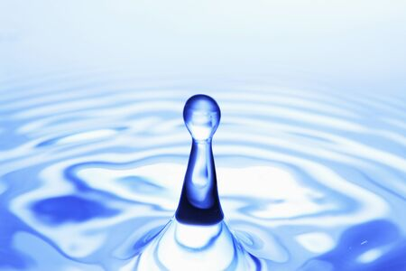 the color of silence: Water droplets Stock Photo