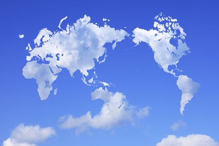 cumulonimbus: World map of clouds