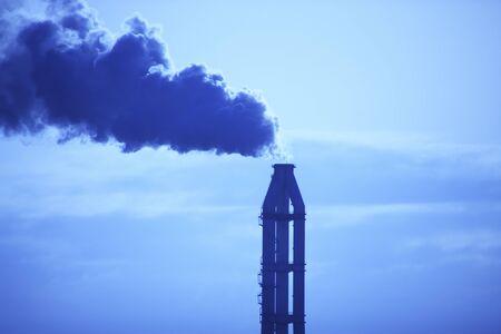 factory power generation: Chimney smoke