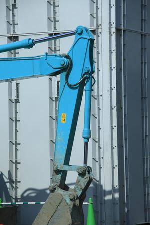 power shovel: Construction site