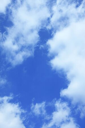 pleasent: Blue sky and clouds