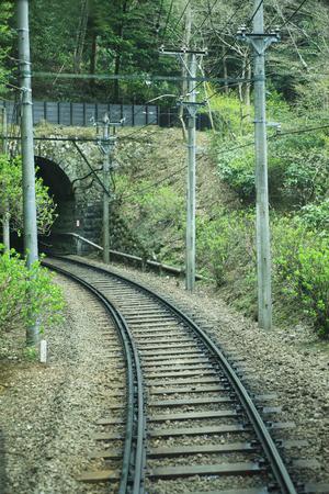 switchback: Transmission line Stock Photo