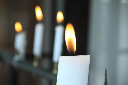 worshipping: Candle Stock Photo