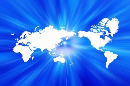 radial: World map, radial