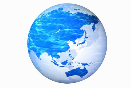 weltkugel asien: Globe Asia Lizenzfreie Bilder