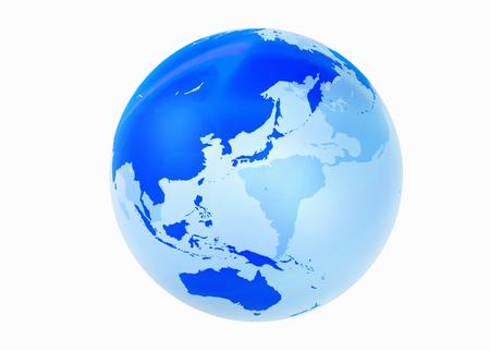earth map: Globe, Asia