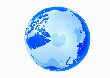 hemisphere: Globe, the Northern Hemisphere