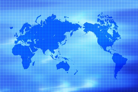 computerize: Map of the world Stock Photo