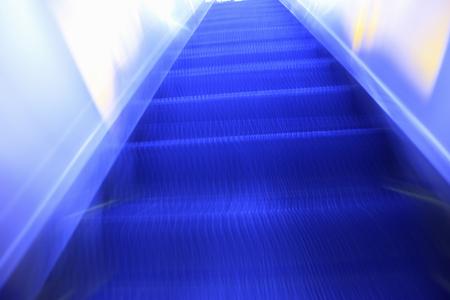 fluctuation: Escalator Stock Photo