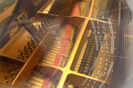 melodic: Music and piano Stock Photo