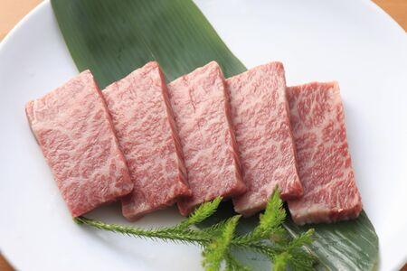 roast meat: Raw meat