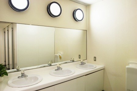 mirror on the water: Restroom Stock Photo