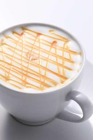 caramelo: Caramel Latte Foto de archivo