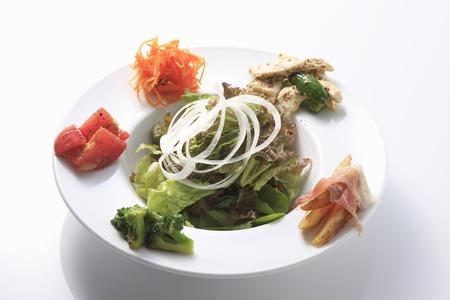 platter: Salad platter Stock Photo