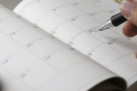 Schedule table 版權商用圖片