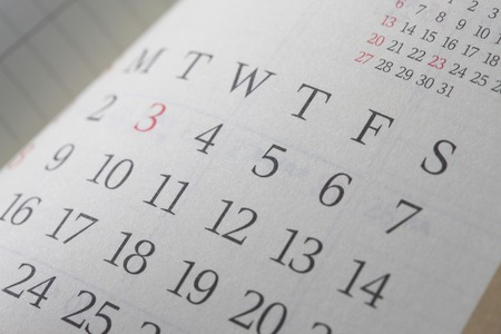 background calendar: Schedule table Stock Photo