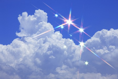 radiancy: Blue sky and white clouds Stock Photo