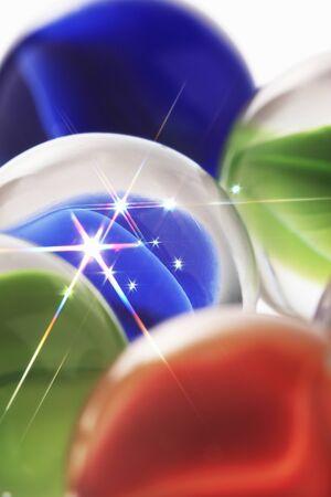 scintillation: Marbles Stock Photo