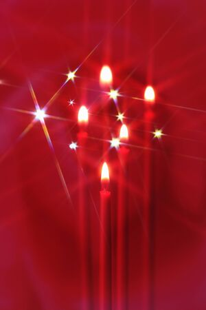 scintillation: Candle Stock Photo