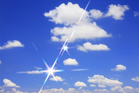 gigantic: Blue sky and white clouds Stock Photo