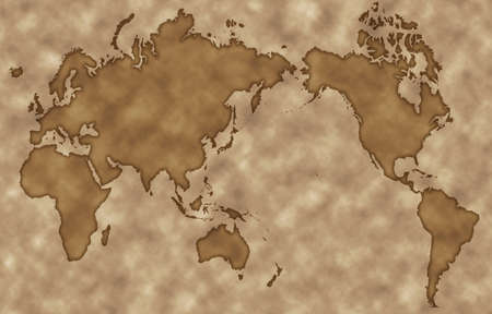 retrospective: Old map style world map