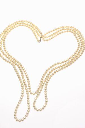 bordering: Heart-shaped, pearl Stock Photo
