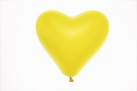 yellow heart: Yellow Heart Balloon