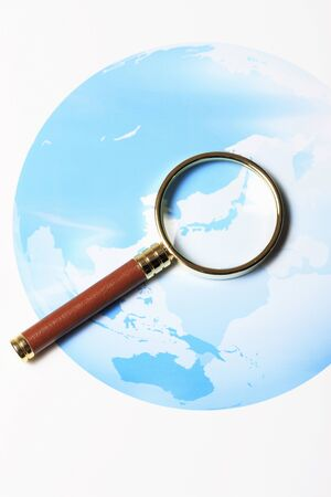 accretion: Map and magnifying glass