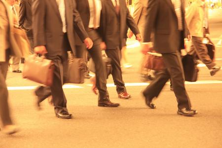 commute: Corporate commute Stock Photo