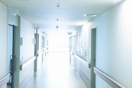 healthcare facilities: Corridor Stock Photo