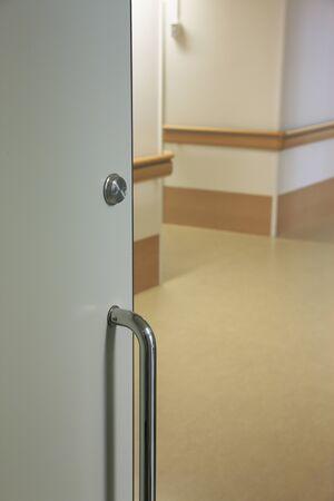 visitation: Hospital door