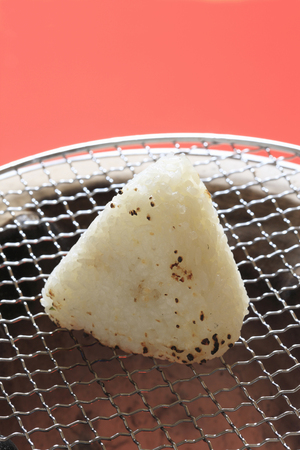 firepower: Grilled rice ball Stock Photo
