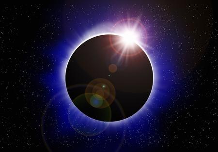 Totale Sonnenfinsternis Standard-Bild - 47118609