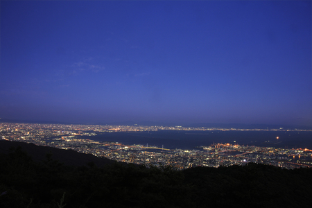 distant spot: Night view from the top of Mt. Rokko