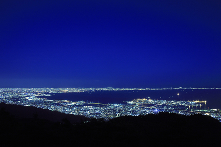 Night view from the top of Mt. Rokko