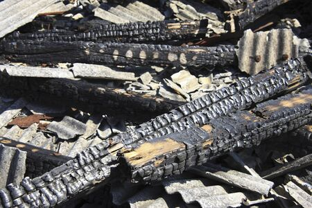 wood and fire: Burnt timber