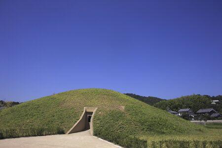 tomb empty: Fujinoki tomb Stock Photo
