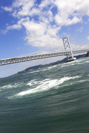 prefecture: Ohnaruto bridge and whirlpools Stock Photo