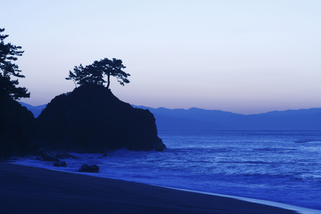 amanecer: Dawn of the Beach Katsura Foto de archivo