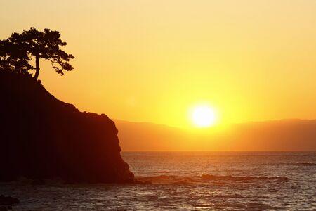 Katsura Playa Amanecer Foto de archivo