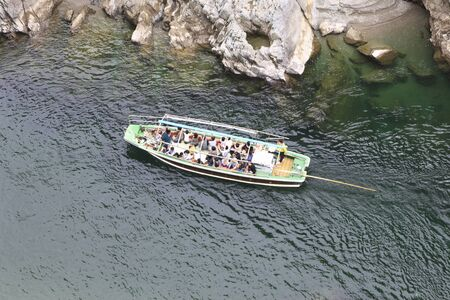 pleasure ship: Big step gorges and scenic boat